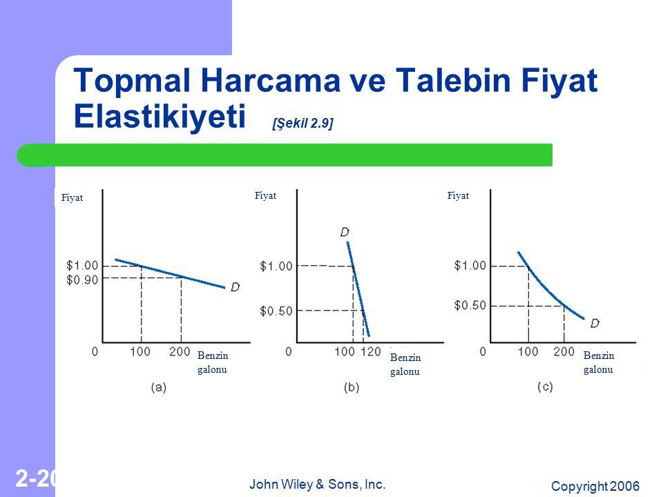 Topmal Harcama ve Talebin Fiyat Elastikiyeti [Şekil 2.9]